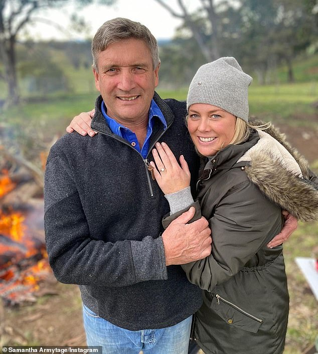 Stunning ring: Sam announced their engagement in an Instagram post in June last year