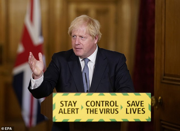 It may explain politicians' annoying habit of making chopping motions to emphasise words in their speeches. Pictured: Boris Johnson