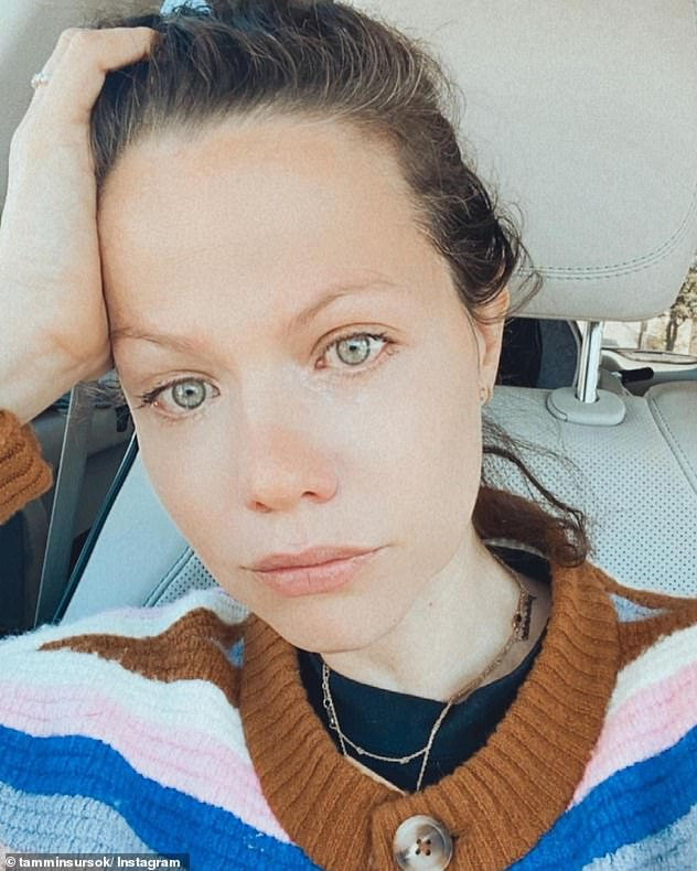 'I'm scared': Earlier in the month, Tammin tearfully announced that her husband, film producer Sean, had contracted coronavirus