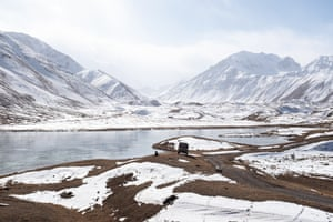 Lake Tulpar-Kul in the Chon-Alay mountains