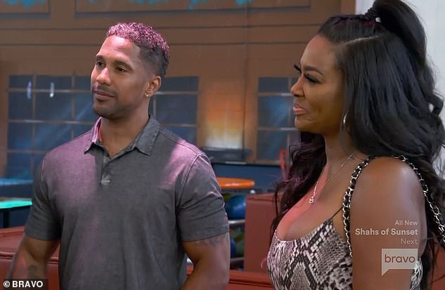 Reality world: Moore has been a main RHOA castmember from seasons five through 10, and again for seasons 12 and 13; she and her estranged husband are pictured on the show