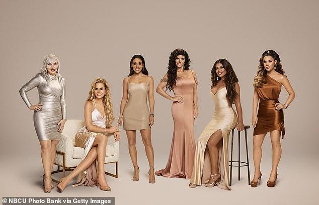 The show must go on: She stars on RHONJ; (l-r) Margaret Josephs, Jackie Goldschneider, Melissa Gorga, Teresa, Dolores Catania, Jennifer Aydin