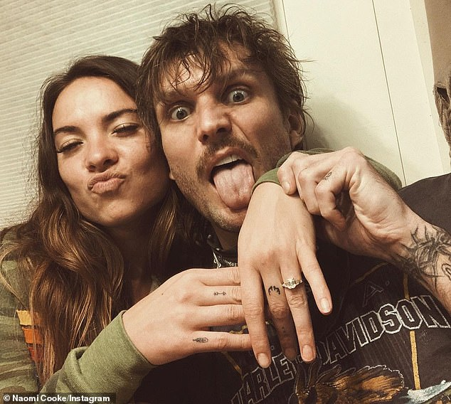 Playful:Naomi herself got engaged just two weeks ago when her beau of over a year, Martin Johnson of Boys Like Girls, asked her to marry him