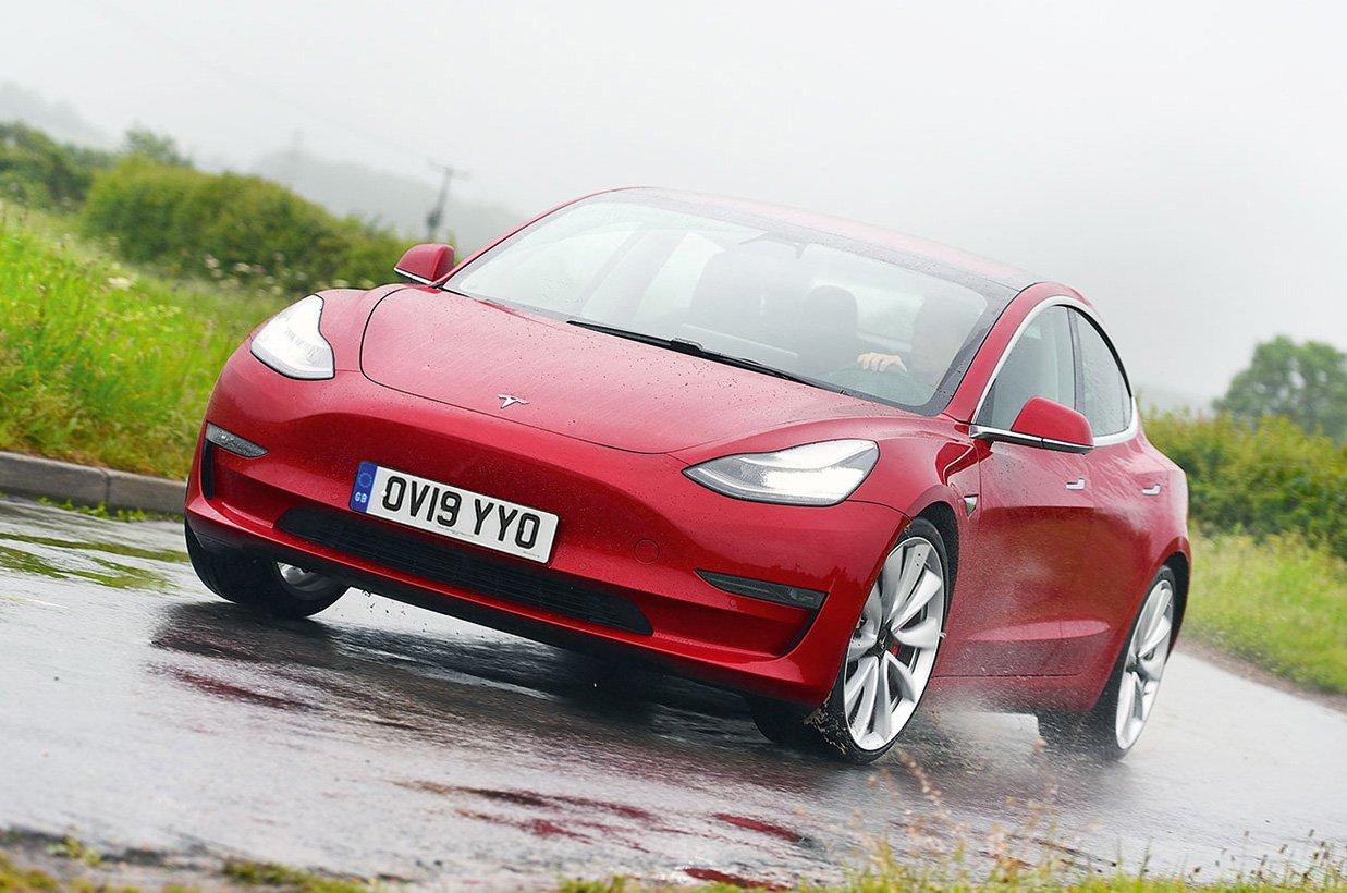 Tesla Model 3 front action