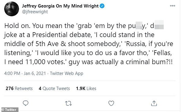 Actor Jeffrey Wright was especially critical of the sitting president amid the chaos