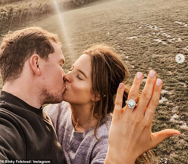 Binky is ENGAGED! She revealed that beau Max Darnton had proposed to her after a 19 month romance