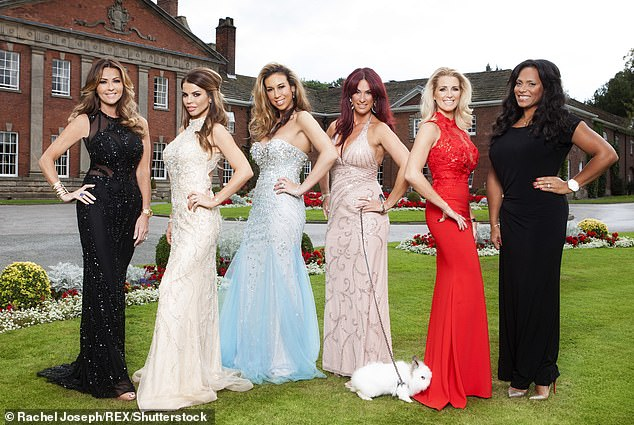 Stunner:She went on to scoop her role on ITV2 reality show Real Housewives Of Cheshire, where she has starred since its inaugural series in 2014 (Tanya, second left, withDawn Ward, Ampika Pickston, Lauren Simon, Leanne Brown and Magali Gorre L-R)