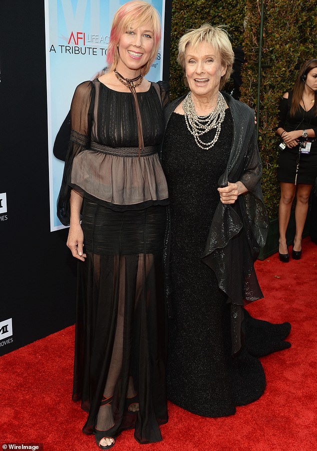 Spot the resemblance: Cloris and George had five children including a daughter called Dinah (left) who was with her when she died; pictured in 2013
