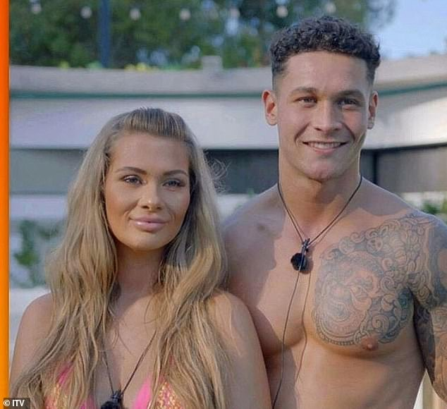 Drama: The 25-year-old, who was on Winter Love Island last January, was supposedly looking for romance on the ITV2 dating show, famously pairing up with co-star Callum Jones only to be dumped by him after returning from Casa Amor