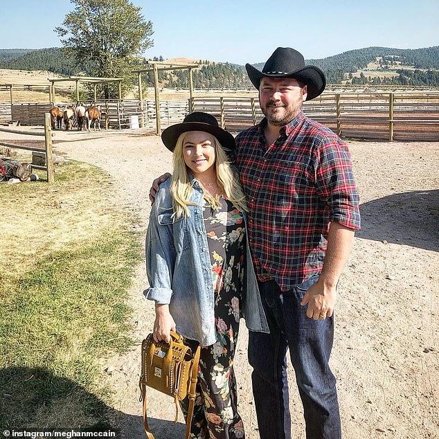 Marital bliss: The daughter of the late Senator John McCain has been married to writerBen Domenech since 2017