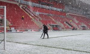 Snow at Rotherham United