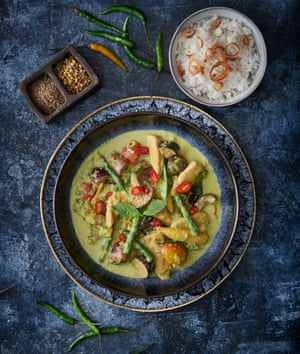 Thai green curry by Wichet Khongphoon. Food styling: Livia Abraham. Prop styling: Pene Parker.