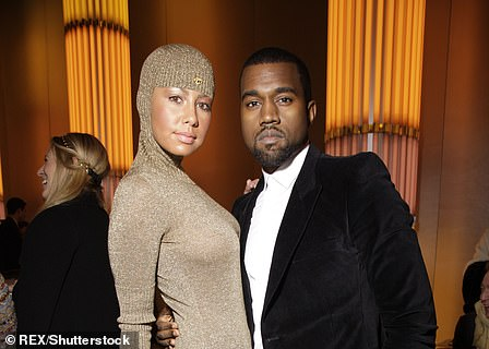 Acrimonious split: Kanye's most high-profile romance pre-Kimye was with model and social media star Amber Rose (pictured 2010)