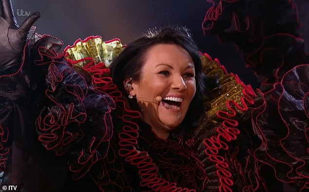 Here she is!Last week, it was revealed that Martine McCutcheon was the Swan character with judge Jonathan Ross correctly guessing her identity before the unmasking