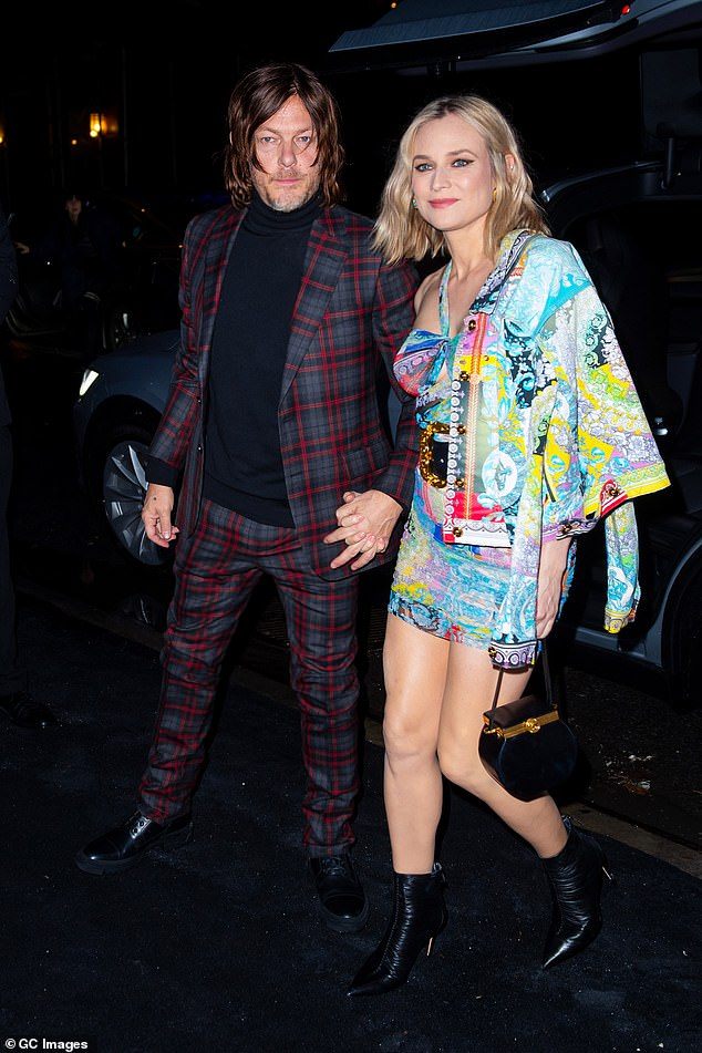 Going strong: The couple met on the set of the 2015 movie Sky and went public with their romance in 2016 (pictured December 2018)