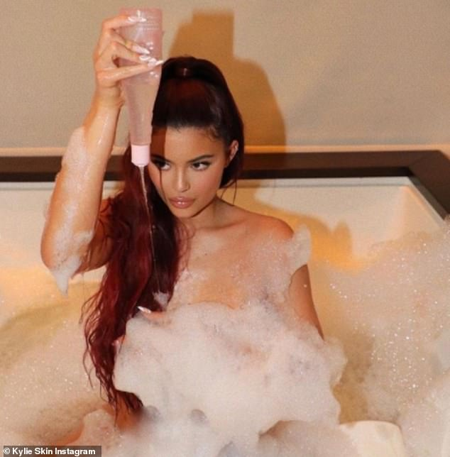 Call a plumber: The 23-year-old was later trolled by fans, one of which who wrote: 'Why is nobody talking about how s**** Kylie Jenner's shower is? The water pressure AND the size of the shower head. Someone get that gal a plumber pronto'
