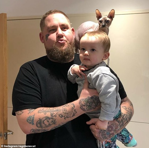 Proud parents:The Giant singer, 35 , and long-term partner Beth had been together for 10 years and raise son Reuben, three, (pictured) together