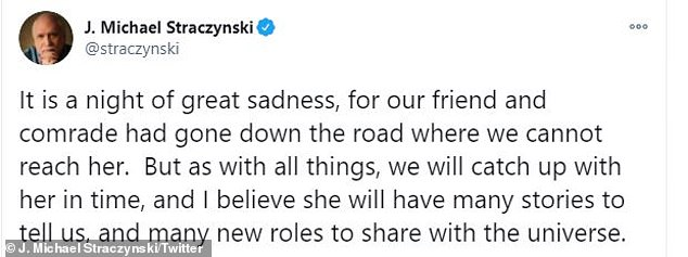 The creator of Babylon 5, J. Michael Straczynski shared the sad news via his own Titter feed and said it was 'a night of great sadness'. He also tweeted a touching tribute to Furlan