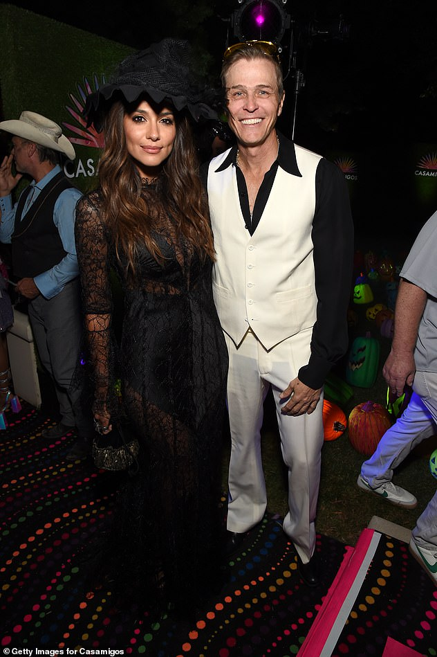 Debut: Pia and Patrick made their public debut at a Halloween party in Los Angeles in October (pictured) that year, amid reports they'd started dating back in M