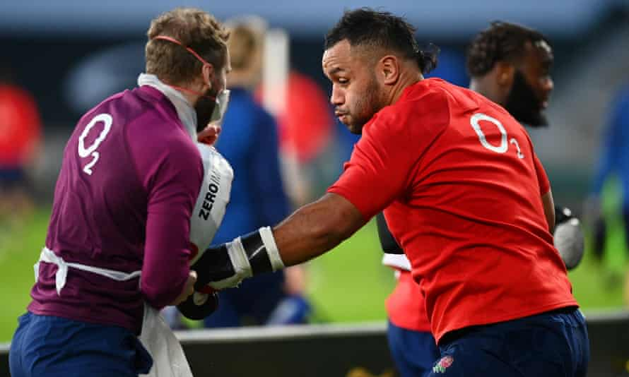 The England No 8 Billy Vunipola (right) has labelled his own recent form for England 'rubbish'.