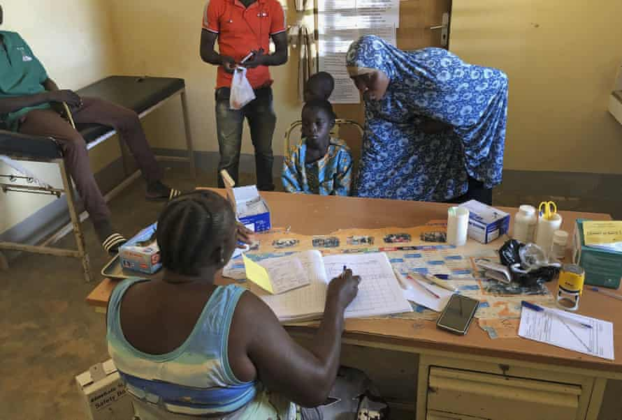 A small clinic in Gampela village on the outskirts of Ouagadougou