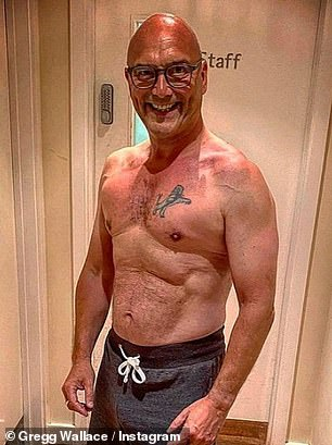 'Doctors said I'd have a coronary': Masterchef's Gregg Wallace, 56, discussed his health overhaul and revealed he is 'the happiest he has ever been' with wife Anna, 34