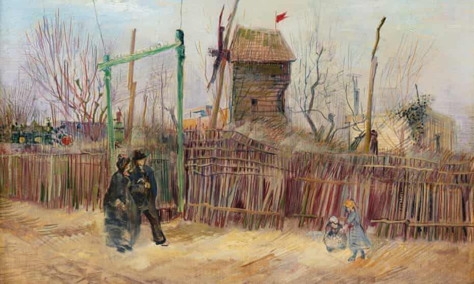 Vincent van Gogh's Scène de rue à Montmartre .