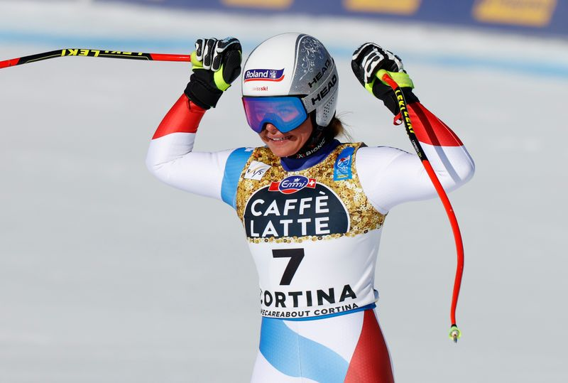 Alpine skiing: Suter ends 32-year Swiss wait for women's downhill gold