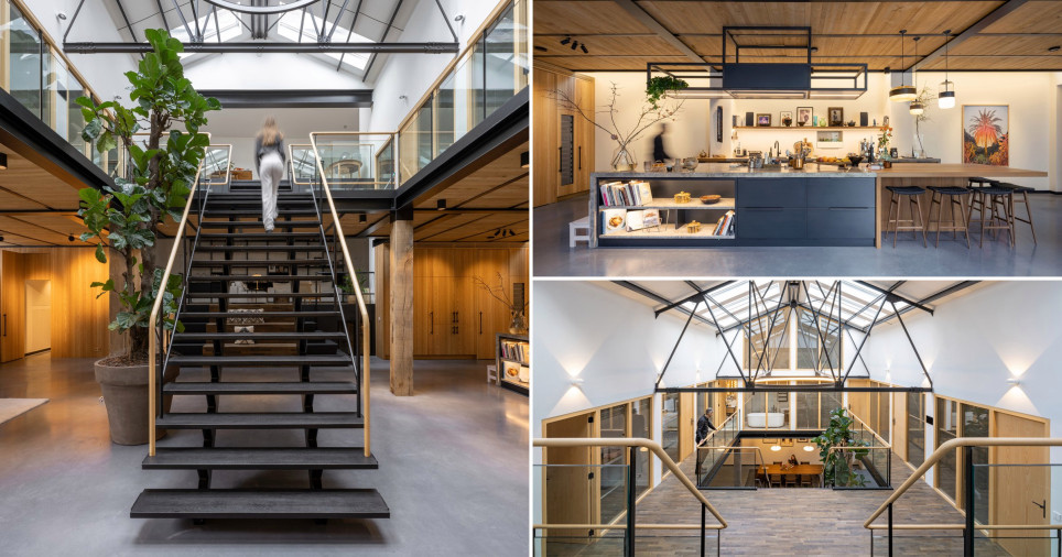 architect turns old gym/monastery into a gorgeous family home