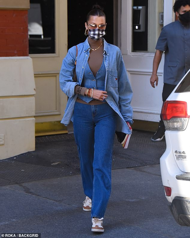Taking time for herself: Bella Hadid was seen arriving at a hair salon in New York City on Saturday morning