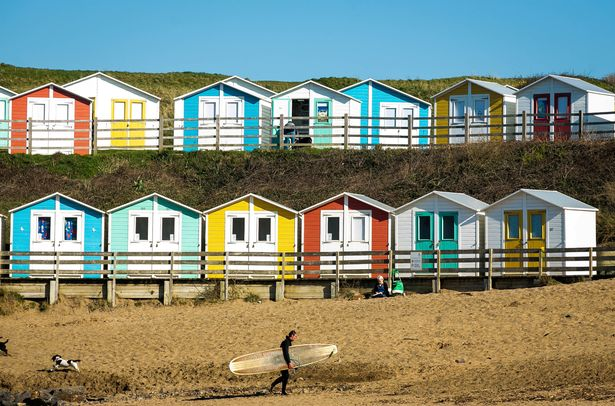 Beach huts in Cornwall. Self-contained stays with your own bubble are the only holiday allowed