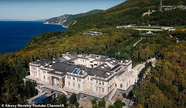 Builders at a notorious £1billion palace allegedly owned by Russian President Vladimir Putin (pictured) have confirmed the once-opulent home is riddled with mould and in a constant state of disrepair