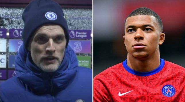 Chelsea boss Thomas Tuchel has heaped praise on 'shark' Kylian Mbappe