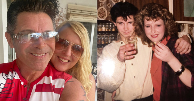 Couple pictured 30 years apart