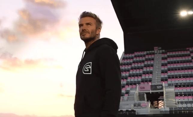 David Beckham at Inter Miami's stadium