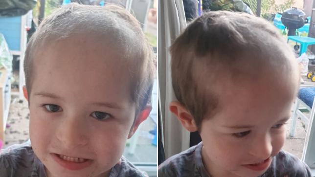 lennon, 5, who gave himself a lockdown hair cut