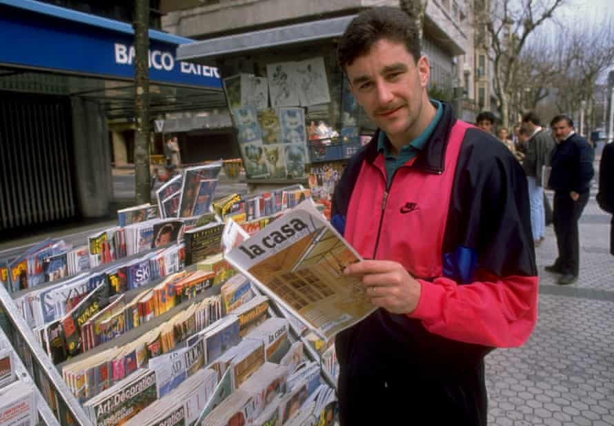 John Aldridge in February 1990, months after becoming the first foreign player to sign for Real Sociedad.