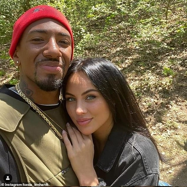German prosecutors have re-opened a case against Jerome Boateng, pictured left, for allegedly injuring his then-girlfriend Kasia Lenhardt, right