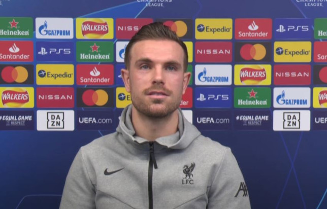 Jordan Henderson has laughed off reports of a bust-up at Liverpool