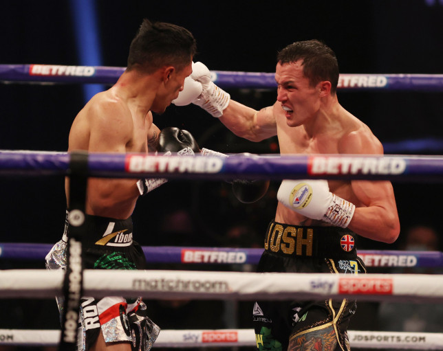 HANDOUT PICTURE COMPLIMENTS OF MATCHROOM BOXING Josh Warrington vs Mauricio Lara, Featherweight Contest. 13 February 2021 Picture By Mark Robinson