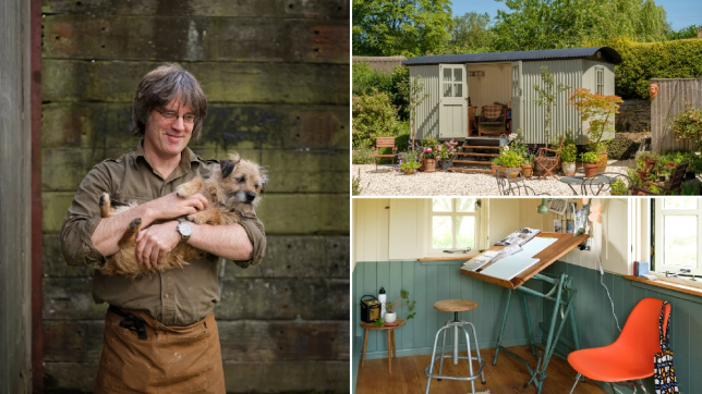 Richard the hut maker and his shepherd's huts