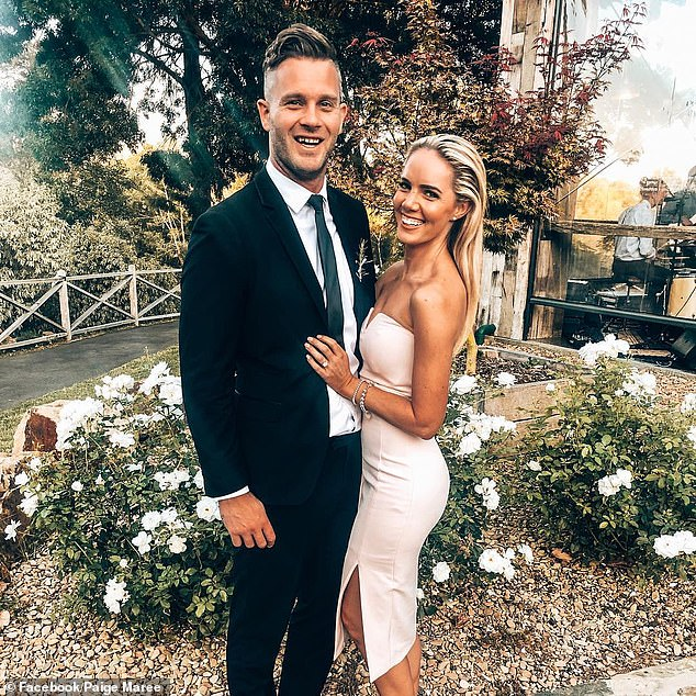 Accusation: Married At First Sight's Jake Edwards (left) has been blasted by his ex-fiancée Paige McCuskey (right), who claims he cheated on her during their four-year romance