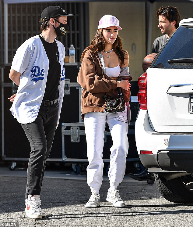More life: Madison Beer, 21, is spotted filming a mystery project in Los Angeles following the release of her debut album Life support, a cathartic multi-year project that details her mental health struggles