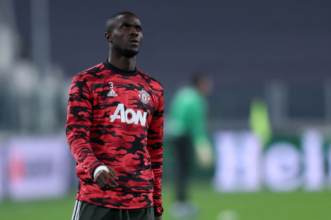 Eric Bailly of Manchester United Fc  looks on during warm up before  Uefa Europa League Round of 32 match between Real Sociedad de Futbol and Manchester United Fc . Manchester United Fc wins 4-0 over Real Sociedad de Futbol.