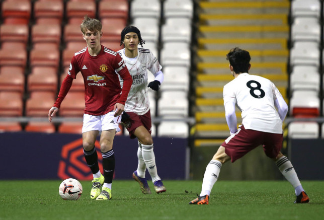 Manchester United youngster Ethan Galbraith.