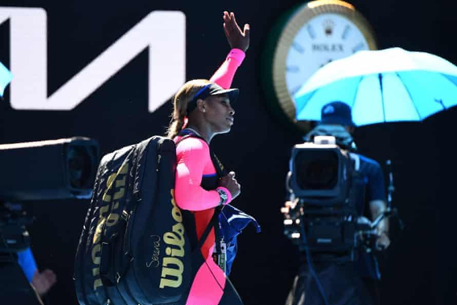 Serena Williams bids farewell to Rod Laver Arena.