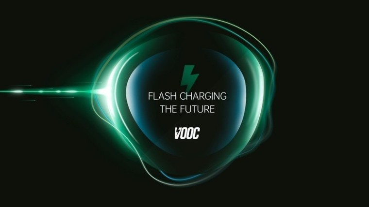 Text reading Flash Charging The Future above the VOOC logo
