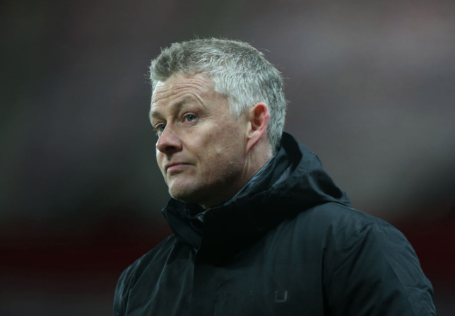 Manager Ole Gunnar Solskjaer of Manchester United walks off after the Premier League match between Manchester United and Everton at Old Trafford on February 06, 2021 in Manchester, England. Sporting stadiums around the UK remain under strict restrictions due to the Coronavirus Pandemic as Government social distancing laws prohibit fans inside venues resulting in games being played behind closed doors.