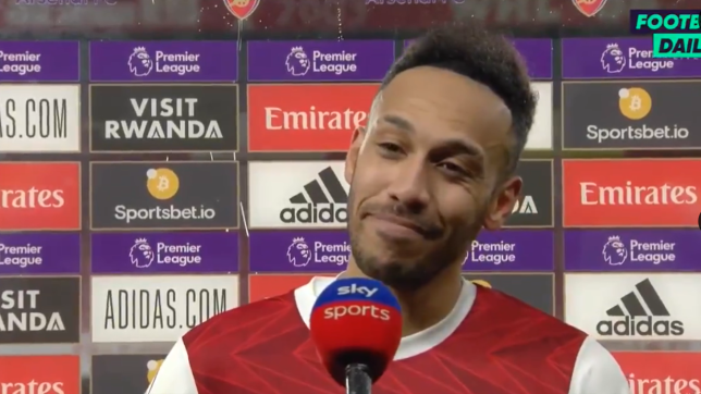 Arsenal's Pierre-Emerick Aubameyang scored his first Premier League hat-trick