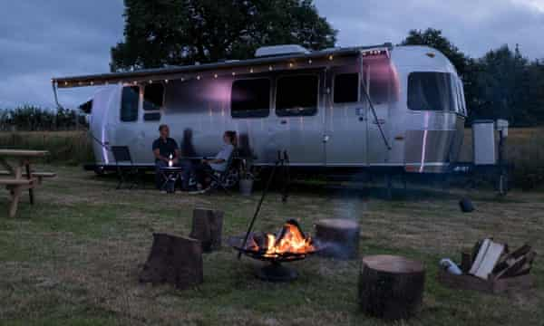 The Wells Airstreams in Herefordshire. Glamping